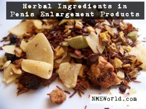 herbal ingredients in penis enlargement products